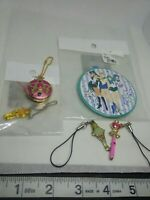 5pc Sailor moon mirror figure keychain strap charm saturn pluto anime kawaii lot