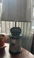 RARE Vintage Sesame Street Oscar The Grouch Table Lamp Holland Mold Retro