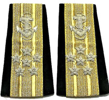 NEW US NAVY SOFT SHOULDER BOARDS ADMIRAL SIX STARS UNIQUE NON ISSUED CP MADE