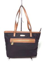 MICKAEL KORS KEMPTON NYLON SMALL TOTE BLACK GOLD 30T29KPTIC MSRP $196