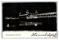 Illumination of Steel Pier, Atlantic City NJ c1905 Postcard J2