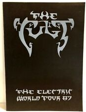 The Cult The Electric Tour '87 full color book with embossed front cover artwork