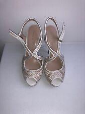 Karen Millen Beige Nude Sandals Shoes Sz 4 New