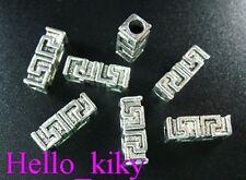 60 pcs Tibetan silver Greek key spacer bead A337