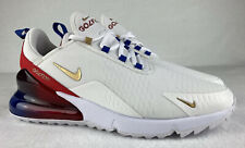 Nike Air Max 270 G Golf Shoes USA Ryder Cup Sz 10 Jordan Tiger Masters Red Blue