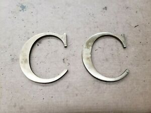 """Solid Brass Letter """" C """" 6"""" inches tall, Industrial Decor"""