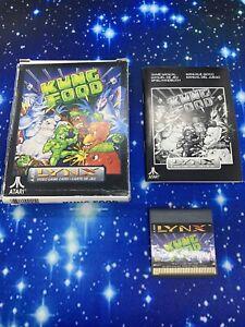 Atari Lynx Game - Kung Food Boxed Complete