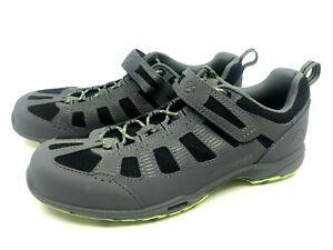 BONTRAGER Inform Gray Cycling Shoes 4 Bolt Lace Up Hook Eye Mesh US 9 EU 42
