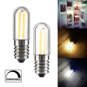 Dimmable Mini E14 E12 1W 2W 3W LED Fridge Freezer Filament Light Bulb Lamp 220V