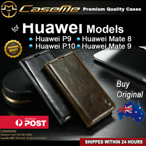 Premium Magnetic Luxury Flip Leather Wallet Cover Case Huawei Mate 8 9 P9 P10