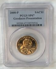 2000-P $1 Sacagawea Goodacre Presentation Dollar PCGS SP67 : Mirrored Fields