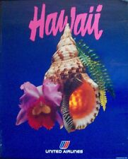 UNITED AIRLINES HAWAII Vintage Travel poster 1982 22x28