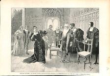 Paris Comédie-Française La Reine Juana drame Alexandre Parodi ILLUSTRATION 1893