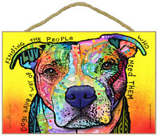 """Dogs Have Way of Finding People that Need Them Sign 7"""" x 10.5"""" plaque Dean Russo"""