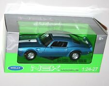 Welly - 1972 PONTIAC FIREBIRD TRANS AM (Blue) - Die Cast Model Scale 1:24