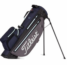 New Titleist golf Players 4 Plus StaDry stand bag Graphite/navy/sky