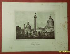 ROMA: FORO TRAJANO. Acquaforte - G. COTTAFAVI.1843..
