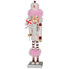 Christmas Nutcracker Figure The Candyman Collection Fun Pink Feather N14S-A