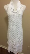 DOLCEZZA Michael Phillips White Eyelet Dress Size S Layered Tank Top Sleeveless