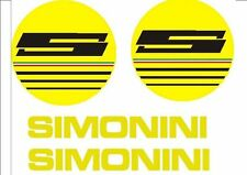 Adesivi serbatoio Simonini giallo  anni '70 4 pezzi