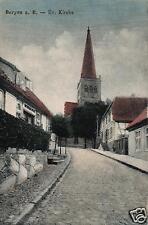 7707/ Foto AK, Bergen a. R., Ev. Kirche, 1923