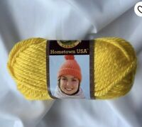 NWT  Lion Brand Yarn HOMETOWN  Bulky Pittsburgh yellow Discontinued   Free Ship