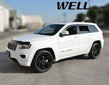 WellVisors For 11-18 Jeep Grand Cherokee with Chrome Trim Side Window Visors
