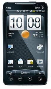 Mint HTC EVO 4G PC36100 8GB w/ Stand - Sprint CDMA Carrier - White / Black