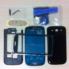 Black Full Housing Case + Screen Glass Lens + Tools For Samsung Galaxy S3 i9300