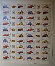 Italia 1986 Auto  3° uscita    450 lire   Foglio Intero   MNH**