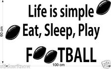 Footy Quote Eat Sleep Play Footy Wall Art Sticker Free Postage Football