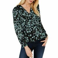 INC NEW Women's Floral Printed Wrap Blouse Shirt Top TEDO