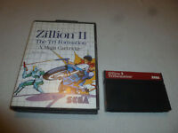 BOXED MASTER SYSTEM GAME ZILLION II THE TRI FORMATION W BOX MEGA CARTRIDGE