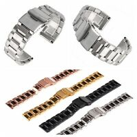 Stainless Steel Metal Bracelet Replacement Watch Band Wrist Strap 18 20 22 24mm