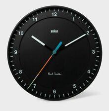 PAUL SMITH + BRAUN Black Classic Large Analogue Quartz Wall Clock Artist Stripe