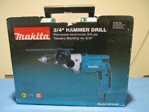 """NEW MAKITA HP2050 3/4"""" HAMMER DRILL CORDED 2 MODES SIDE HANDLE 6.6AMP LOCK-ON"""