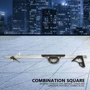 600mm Kombinationswinkel Anschlagwinkel Winkelmesser Lineal Messwerkzeug neu