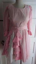 Vintage 60s Square Dance Dress Co Pink Gingham Swing Rockabilly Dress Womens S