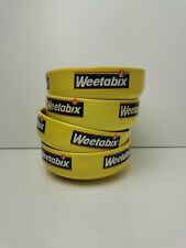 More details for 4x vintage 1980s weetabix cereal bowl 14cm diameter x 5cm height collectable