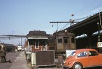 Railroad Passenger Train Station Volkswagen Beetle VW Original 1974Photo Slide