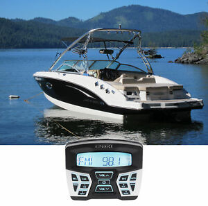 Hifonics TPS-MR1 Marine Gauge Hole Mount Bluetooth Receiver Radio Stereo 4 Boat