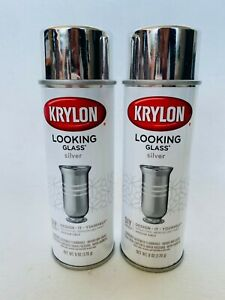 2 Pack Krylon Division 6 Oz Looking Glass Mirror Like Spray Paint 9033 Silver