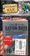 Childrens War Memorabilia Pack:Boys Own Ministry Food Ration Book Evacuation WW2