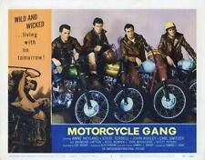"""MOTORCYCLE GANG""-ORIGINAL LOBBY CARD-JOHN ASHLEY-FANTASTIC BIKER CARD!"