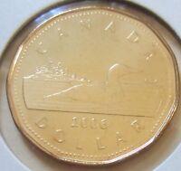 2006 Canada Loonie One Dollar Coin. UNC. 1 $