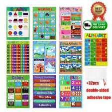 10pcs Educational Toddlers Baby Kids Preschoolers Preschool Posters Charts