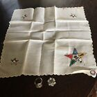 Vintage Ladies Order Of The Eastern Star Masonic Lot Sterling Pin, Ring Size 6.5 for sale