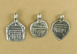 Old /antique Indian Tribal pendant. Protection Amulet. 7 sisters. Fine silver