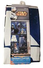 "Star Wars Classic Saga 72"" x 72"" Fabric Shower Curtain With Darth Vader, Luke"