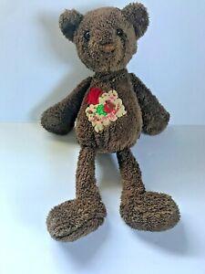 "Dan Dee Chocolate brown BEAR Be My Love Patch 15"" Stuffed Animal teddy dandee"